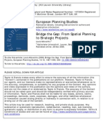 Bridge the Gap-From Spatial Planning to Strategic Projects