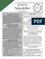 WMGS Winter 2013-14 Newsletter