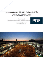 The Shape of Social Movements and Activism Today (Slides for Essex Radical Conference on Nov 14, 2013)