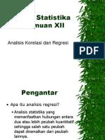 Materi XII Analisis Korelasi Dan Regresi