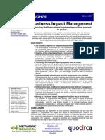 Business impact management