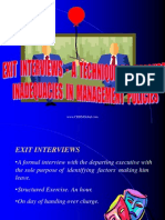 Exit Interviews - Measuring Management Inadequacy