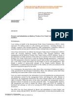 ITUC Letter Georgian Railways Industrial Dispute