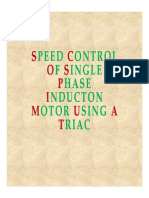 "SPEED CONTROL OF SINGLE PHASE INDUCTION MOTOR"" BY USING TRIAC_ppt"