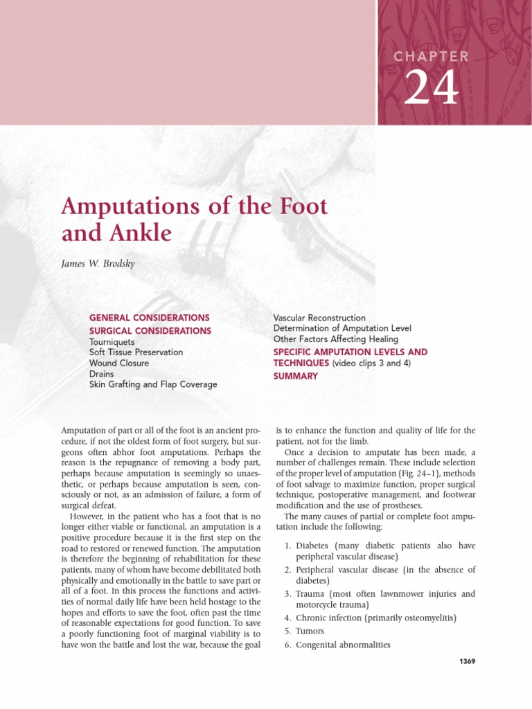 24 Amputations of the Foot and Ankle | Toe | Amputation