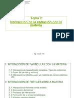 2 - Interaccion de La Radiacion Con La Materia