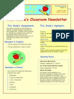 isp 408-classroom newsletter