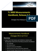 TL 9000 Measurements Handbook Release 5.0 Changes