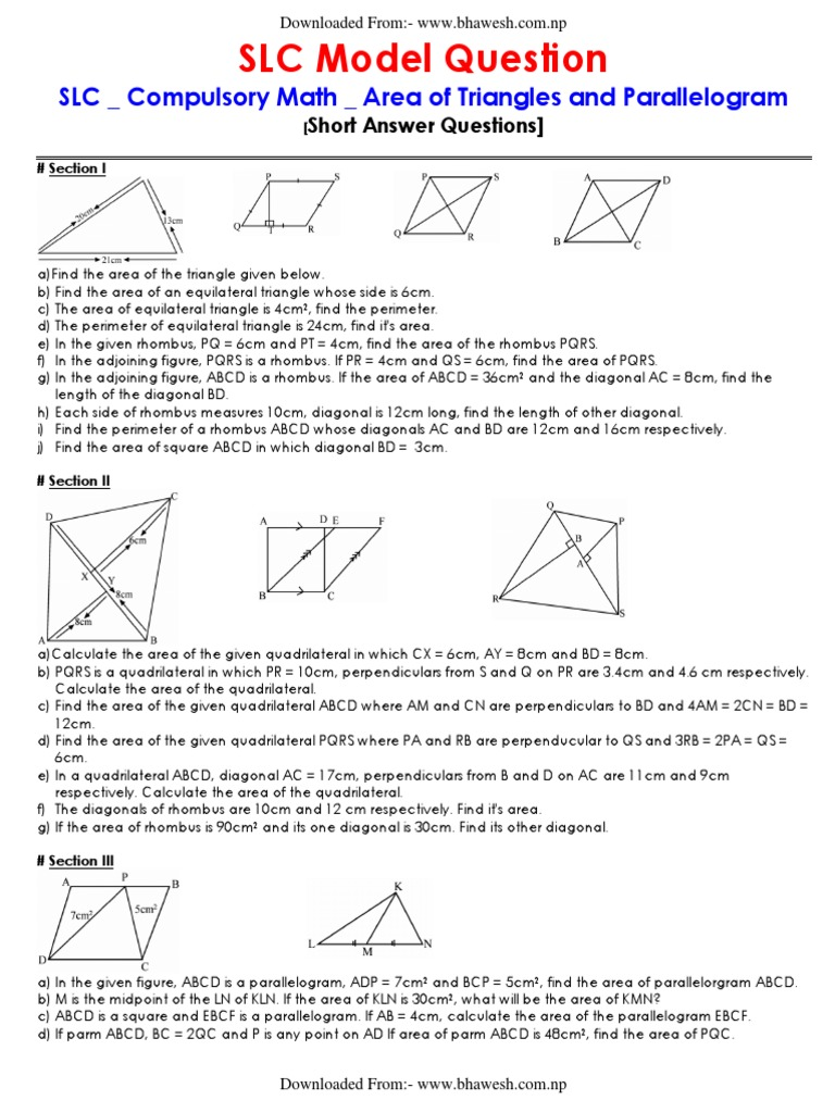 worksheet Area Of Triangles And Quadrilaterals Worksheet area of triangles and quadrilaterals worksheet coordinate graphing slc compulsory math model question all sphere circle 1527004251v1 and