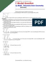 SLC _ Compulsory Math _Theorems From Geometry