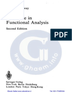 A Course in Functional Analysis(Conway)