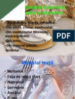 lab.1 Obiecte folosite la servirea preparatelor şi băuturilor