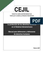 CEJIL Manual de Defensores 2007