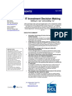 IT investment decision making
