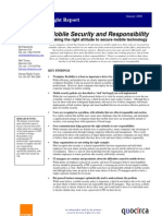 Mobile security and responsibility