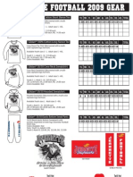 2009 Jayhawk Football Apparel Order Form