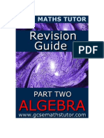 Free E-Book 'Revision Guide Part Two Algebra' from GCSE Maths Tutor