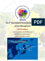 IRSSM5 - Call for Papers