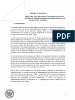TDR Diplomado en Gestión Integrada de Recursos Hídricos