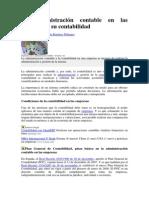 La Administracion Contable en Las Empresas y Su Contabilidad