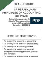Week 1 - Lecture Prinsip Perakaunan Principles of Accounting (Bt11003)