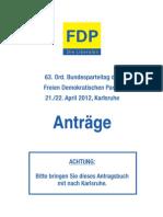 63. Bundesparteitag der FDP am 21./22. April 2 - Anträge