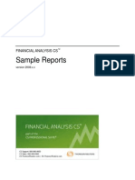 Fina Sample Reports