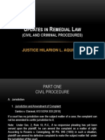 Justice Hilarion Aquino Update in Remedial Law-february 16, 2013