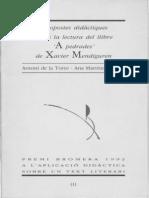 Premi Bromera 1992 a l'aplicació didàctica sobre un text literari