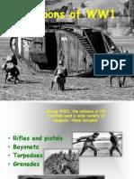 Weapons WW1