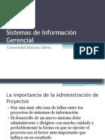 Sistemas de Información Gerencial - Administración de Proyectos