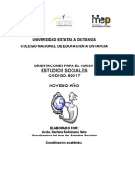 GUÍA DE ESTUDIOS SOCIALES. NOVENO