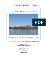 NATIONAL LIBRARY OF AUSTRALIA conservation plan