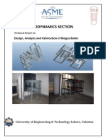 Technical Report on Design,Analysis and Fabrication of Biogas Boiler