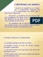 Tema1 - Prospecção Geotécnica