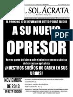 El Sol Ácrata N_21 (Noviembre de 2013).