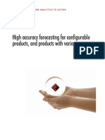 High Accuracy Forecasting for Configurable Products and Products With Variants