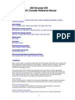 z 80 Basic Compiler Reference Manual