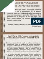 Algunas Conceptualizaciones Acerca de Las Politicas Sociales