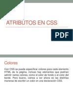 Atributos en CSS
