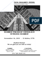 November 16, 2013 Shabbat Card