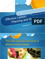 effective lesson planning and design mmw