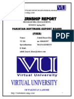 Internship Report Management Pakistan Software Export Board Pseb