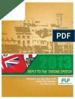 Reply to Throne Speech 2013 (1)