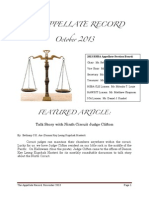 The Appellate Record - November 2013