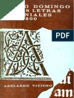 Vicioso, Abelardo - Santo Domingo en Las Letras Coloniales