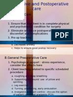 Preoperative and Postoperative Care