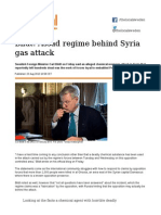 Assad Regime Behind Syria Gas Attack