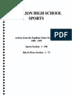 Papillion High School Sports 1900-1959