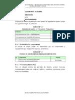 5.0 PARAMETROS DE DISEÑO